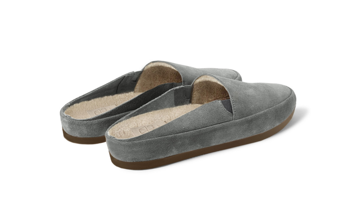 Mens Slippers in Grey Suede | MULO shoes