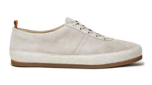 Suede Mens Lace-Up Espadrilles