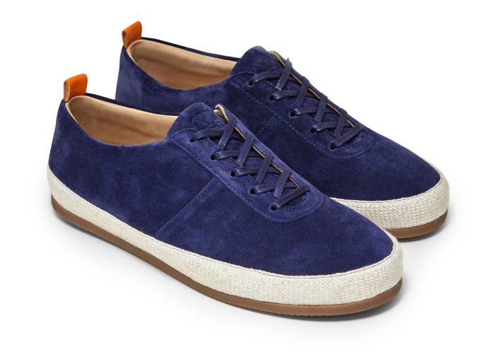Navy Lace Up Espadrilles for Men in Suede | MULO shoes