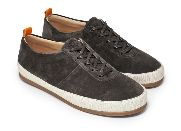 Mens Lace Up Espadrilles in Brown Suede | MULO shoes
