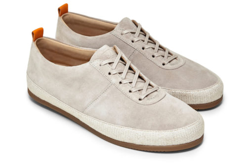 Lace Up Espadrilles for Men in White Suede   MULO shoes