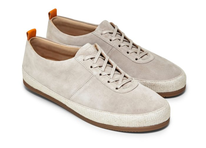 Lace Up Espadrilles for Men in White Suede | MULO shoes