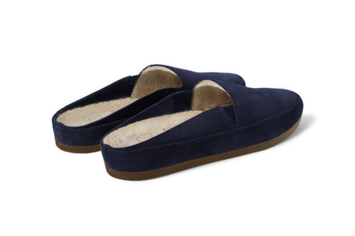 MULO shoes | Suede Navy Backless Slippers