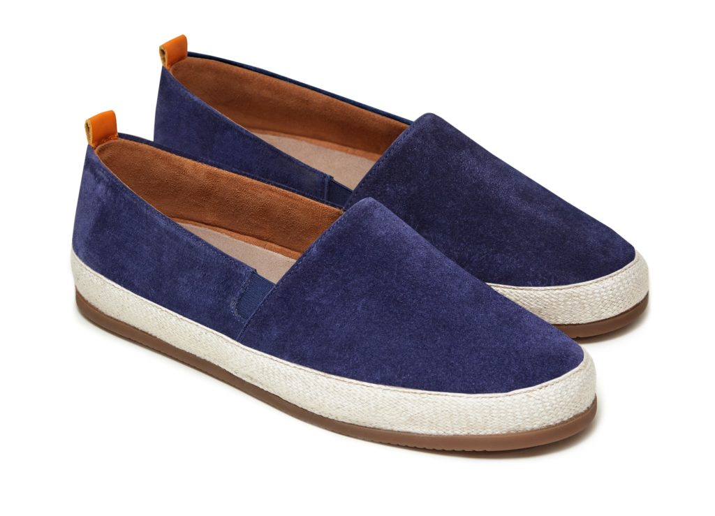 Mens Designer Espadrilles in Navy Suede | MULO shoes