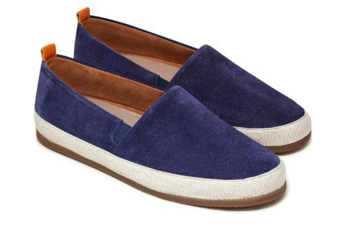 Mens Designer Espadrilles in Navy Suede | MULO shoes