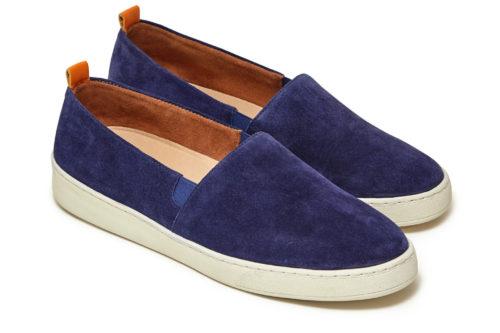Mens Slip-On Sneakers in Navy Suede | MULO shoes