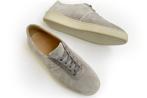 MULO shoes Mens Sneakers Grey Suede Slip On Sneakers - New In