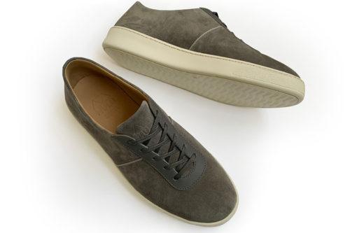 MULO shoes Mens Sneakers Grey Suede Sneakers