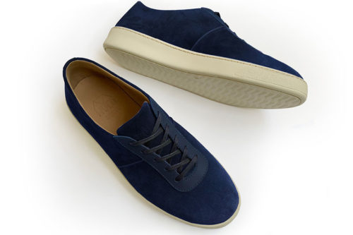 Mens Sneakers in Navy Suede | MULO shoes