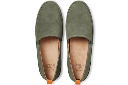 Mens Loafers in Khaki Suede | MULO shoes