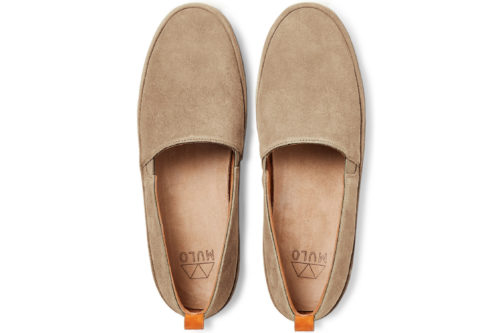 Mens Tan Loafers in Suede | MULO shoes