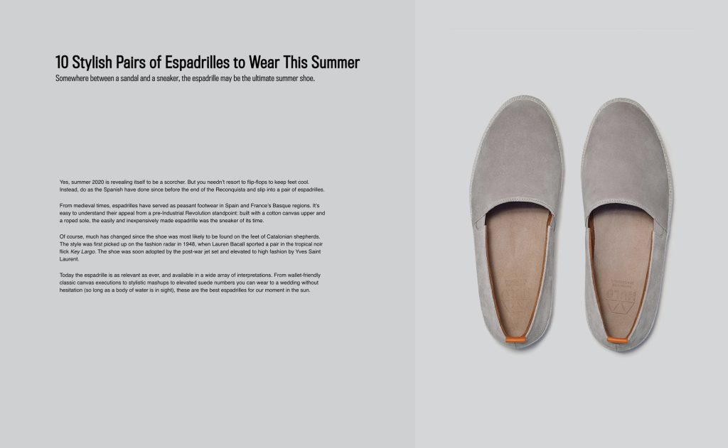 Mens Espadrilles featured in Robb Report