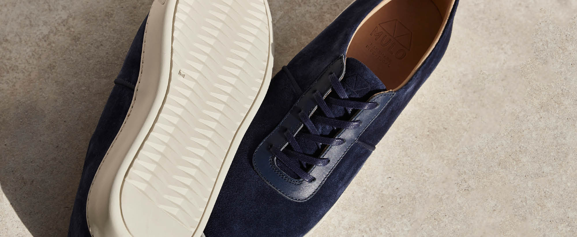Mens Lace-Up Espadrilles in Suede