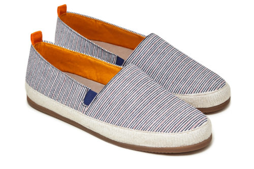 Mens Striped Espadrilles Red White Blue | MULO shoes
