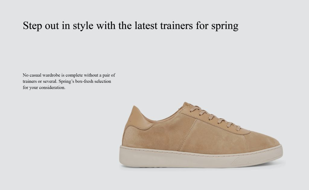 Mens Style - Sneakers for Spring