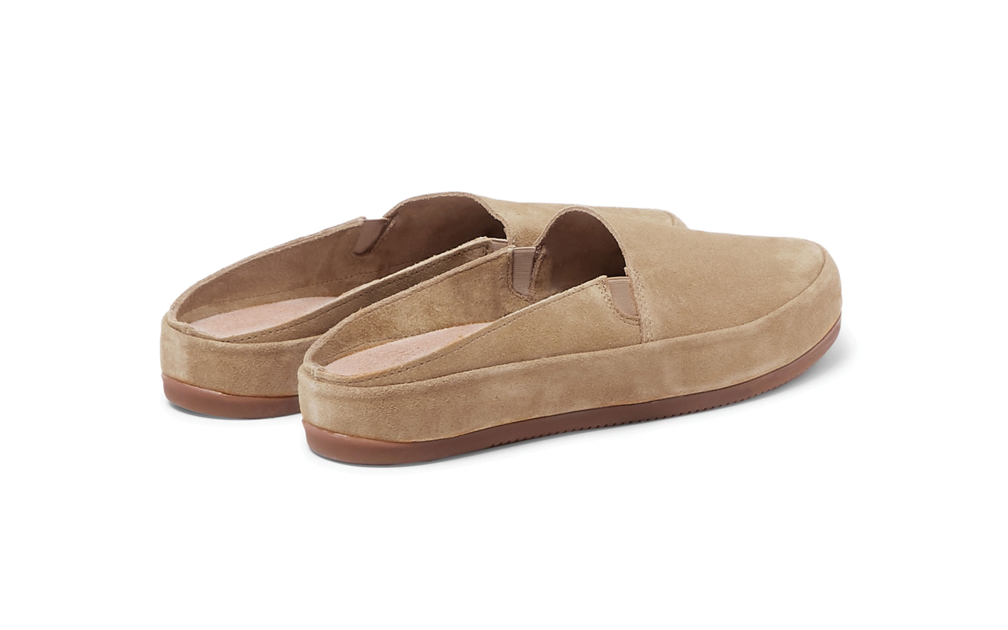 Mens Slippers in Tan Suede | MULO shoes