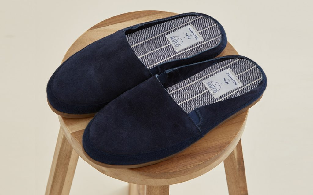 MULO x Hamilton and Hare | Navy Suede Backless Slipper | Limited Edition