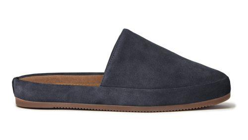 Men's Slippers in Suede Slate Blue