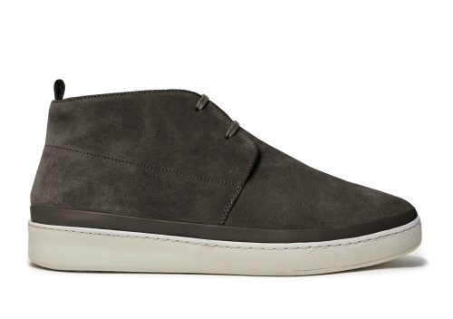 Desert Boots for Men in Brown Waxed Suede