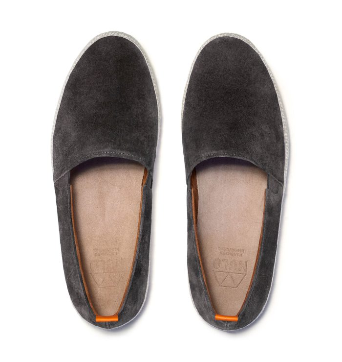 Mens Leather Espadrilles in Brown Suede