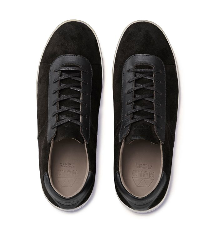 Lace-Up Sneakers for Men in Brown Suede
