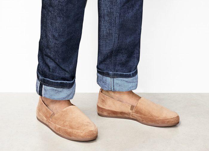 Camel Corduroy Slippers for Men