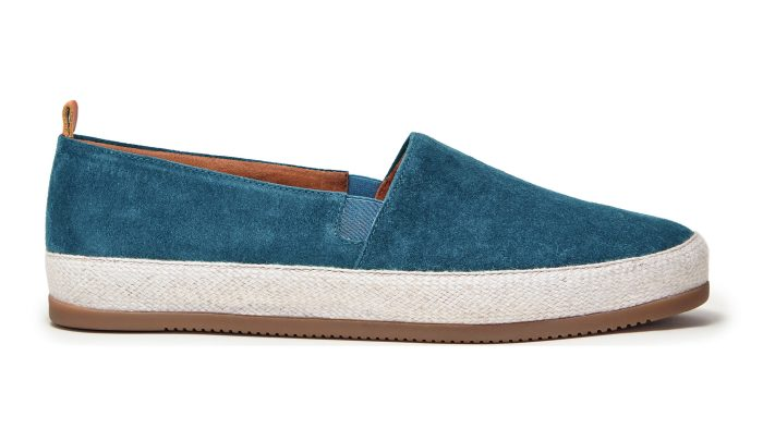 Blue Espadrilles for Men in Suede | MULO shoes