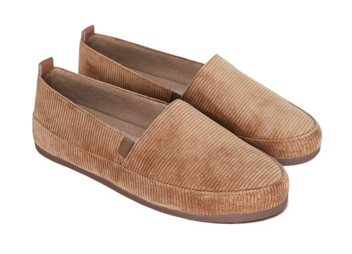 Designer Slippers for Men in Camel Corduroy