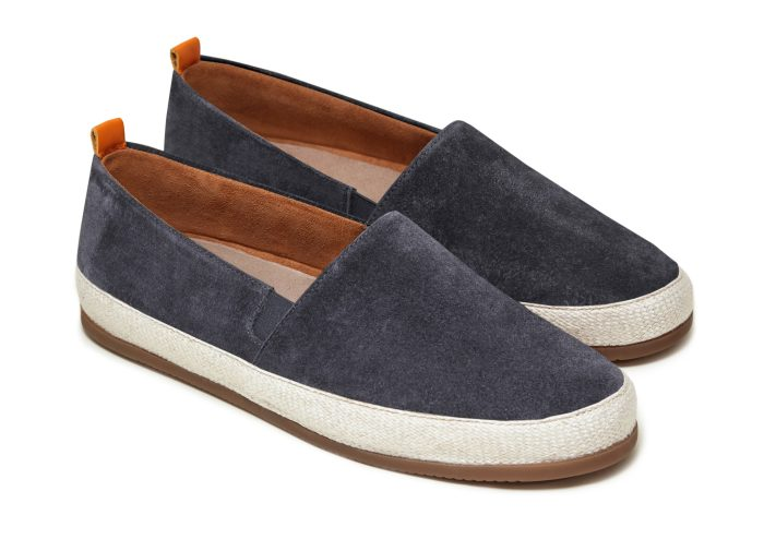 Espadrilles for Men in Charcoal Grey Suede