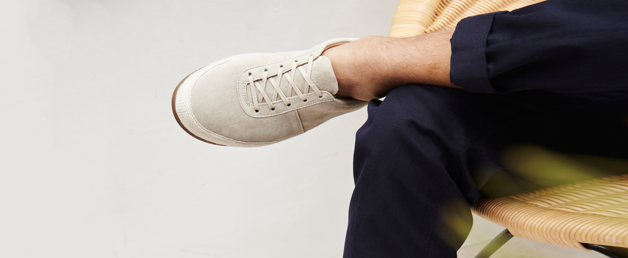 Suede Summer Shoes - Mens Lace-Up Espadrilles