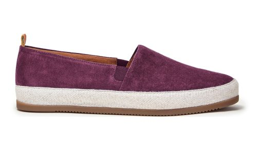 Mens Espadrilles in Burgundy Suede | MULO shoes