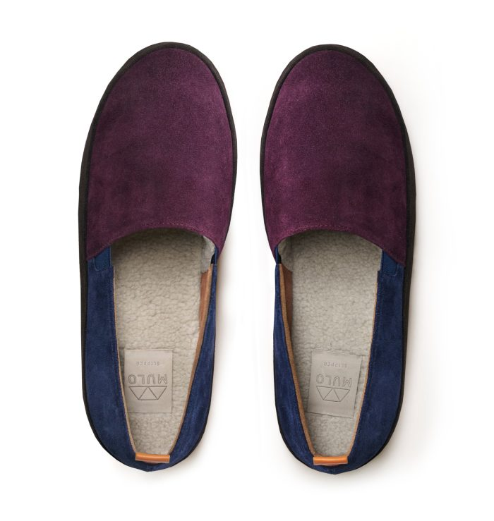 Multi-colour Suede Slippers for Men