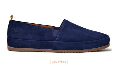 Mens Loafers - Navy Suede