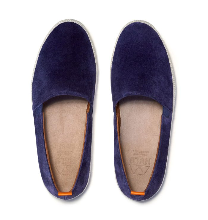 Blue Espadrilles for Men in Navy Suede