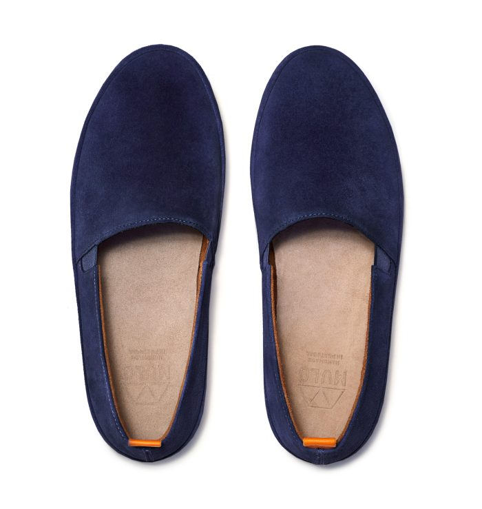 Mens Blue Suede Shoes in Navy | MULO shoes