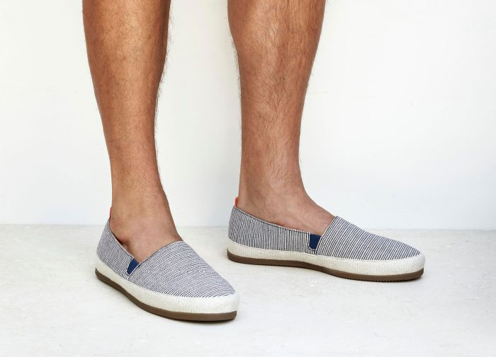 Mens Red White Blue Striped Espadrilles for Men | MULO shoes