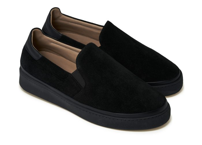 Mens Black Sneakers Slip-On Style | MULO shoes