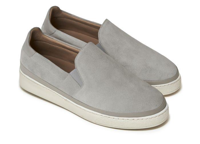 Grey Suede Slip-on Mens Sneakers
