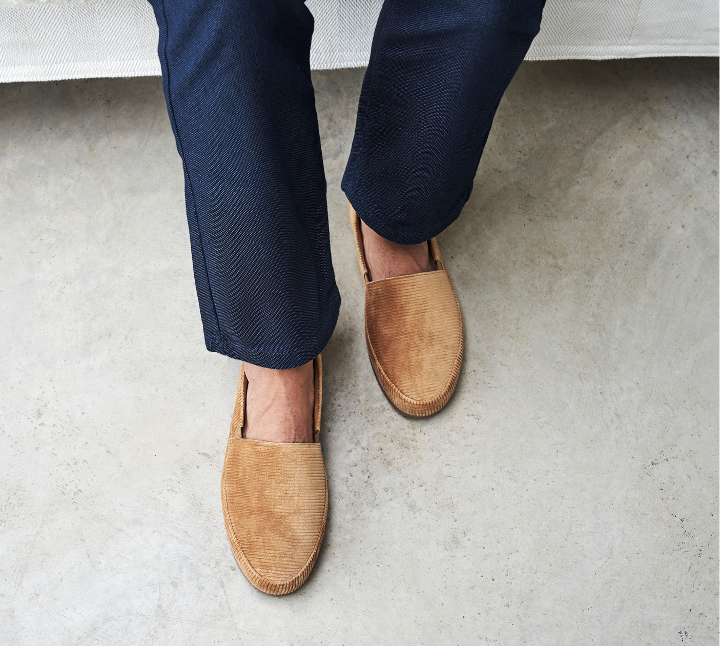 Camel Corduroy Slippers - Mens Slippers