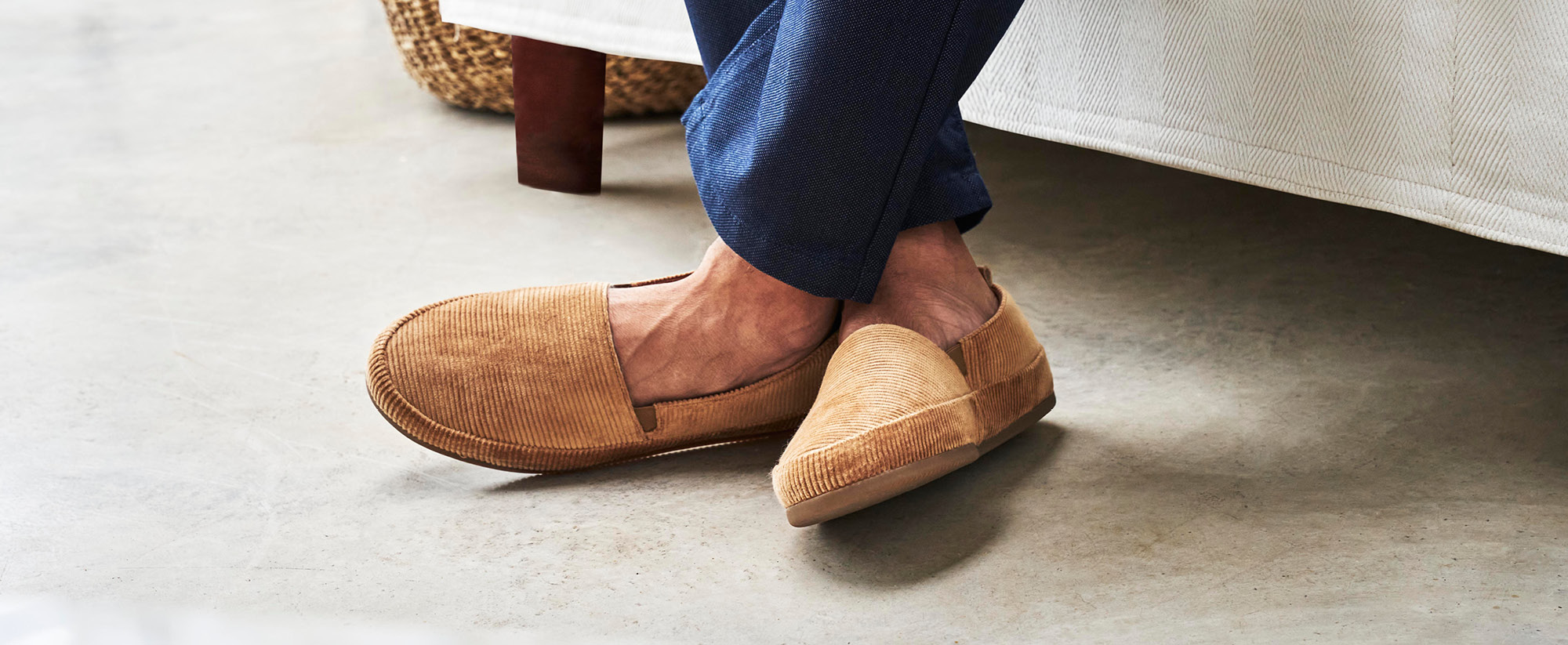 Corduroy Luxury Slippers - Mens Slippers