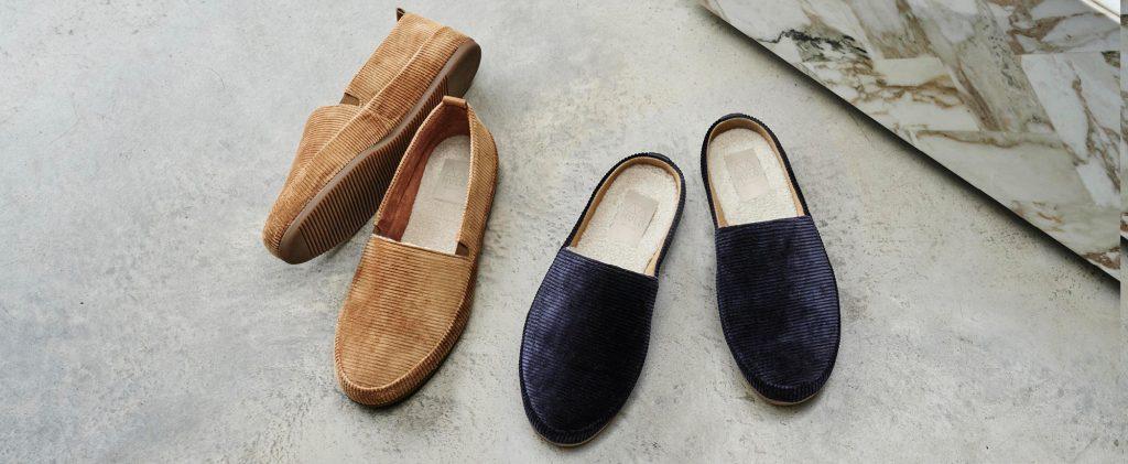 Mens Slippers - Corduroy Mens Designer Slippers