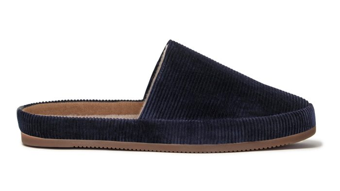 Slippers for Men in Blue Corduroy
