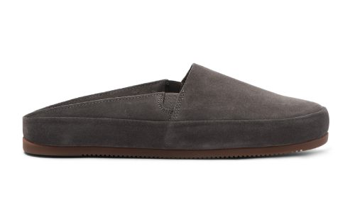 Luxury Mens Slippers in Brown Suede