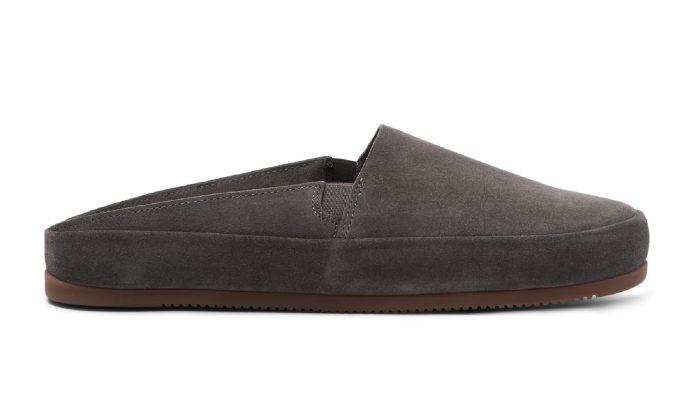 Luxury Mens Slippers in Brown Suede