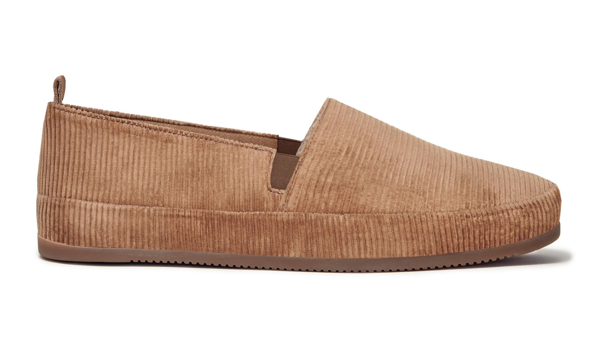 Slippers for Men in Camel Corduroy