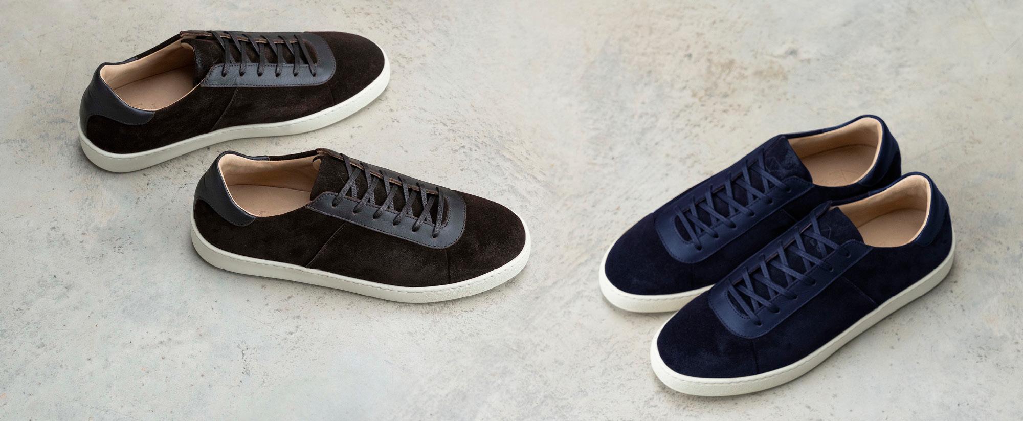 Waxed Suede Designer Sneakers - Mens Sneakers