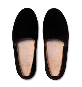 Black Leather Loafers for Men in Suede | MULO shoes