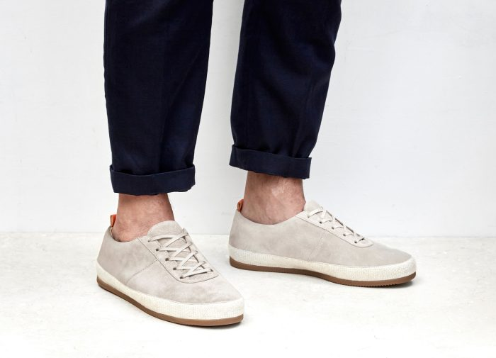 Suede White Lace-Up Espadrilles for Men | MULO shoes