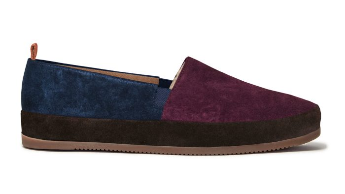Multi-colour Suede Mens Slippers