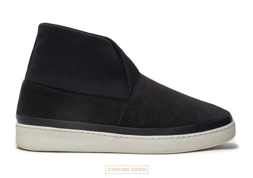 Navy Suede Mens Slipper Boots